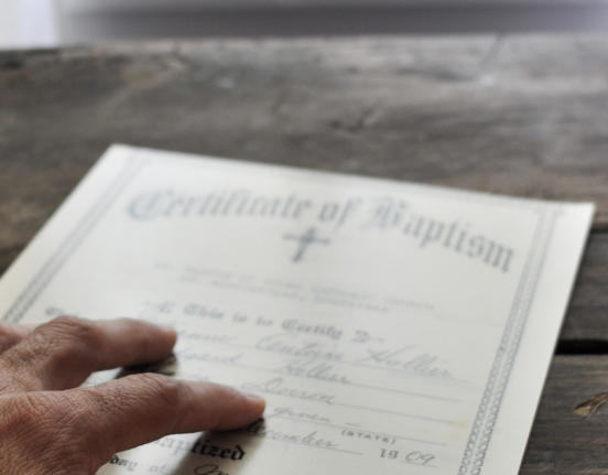 Request Baptismal Certificate